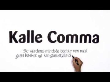 Kalle Comma - Speed Video af tegner Poul Carlsen