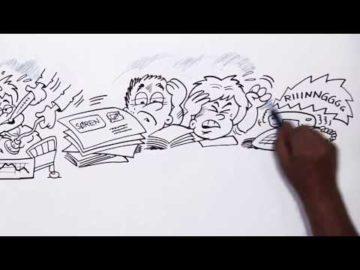 Ligesund - Speed Video af tegner Poul Carlsen for Psykiatrien i Region Syddanmark